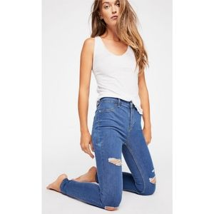 NWT Free People Destroyed Long & Lean Jegging 27